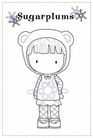 C.C. Designs - Cling Mounted Rubber Stamp - Teddy Emma