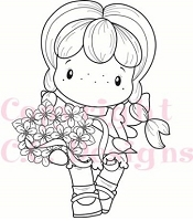 C.C. Designs - Cling Mounted Rubber Stamp - Swiss Pixie Bouquet Birgitta