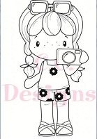 C.C. Designs - Cling Mounted Rubber Stamp - Swiss Camera Birgitta