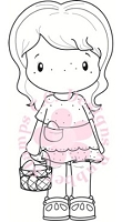 C.C. Designs - Cling Mounted Rubber Stamp - Swiss Pixie Country Lula