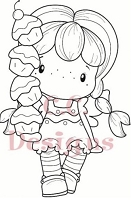 C.C. Designs - Cling Mounted Rubber Stamp - Swiss Pixie Cupcake Birgitta