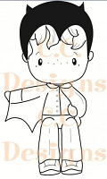 C.C. Designs - Cling Mounted Rubber Stamp - Swiss Pixie Halloween Hansel