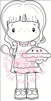 C.C. Designs - Cling Mounted Rubber Stamp - Swiss Pixie Pie Birgitta