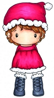 C.C. Designs - Cling Mounted Rubber Stamp - Swiss Pixie Santa Lula