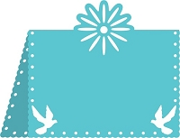 Cheery Lynn Designs - DIE - Flower And Dove Placecard #1