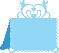 Cheery Lynn Designs - DIE - Hearts And Doves Placecard #2