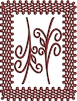 Cheery Lynn Designs - DIE - Japanese Lace and Flourish Frame