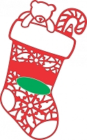Cheery Lynn Designs - DIE - Lace Christmas Stocking