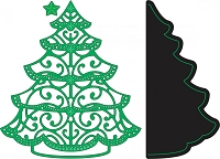 Cheery Lynn Designs - DIE - Lace Christmas Tree