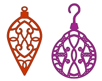 Cheery Lynn Designs - DIE - Lacey Christmas Ornaments