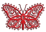 Cheery Lynn Designs - Doily Die - Lace Flourish Butterfly