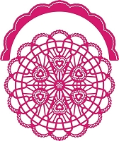 Cheery Lynn Designs - cutting die - Candy Hearts Doily with Angel Wing