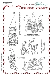 Chocolate Baroque - A Tomte Christmas Unmounted Stamp Sheet (5.75