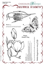 Chocolate Baroque - Happy Flower's Day Unmounted Stamp Sheet (5.75