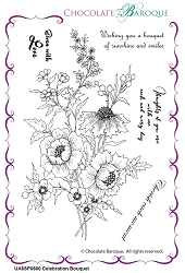 Chocolate Baroque - Celebration Bouquet Unmounted Stamp Sheet (4