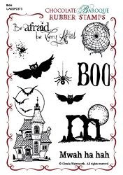 Chocolate Baroque - Boo Unmounted Stamp Sheet (4