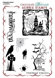 Chocolate Baroque - Halloween Raven Unmounted Stamp Sheet (4