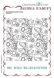 Chocolate Baroque - Big Bold Background Belle Flowers Unmounted Stamp (5.75