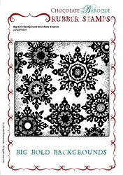 Chocolate Baroque - Big Bold Background Snowflake Shadow Unmounted Stamp (5.75