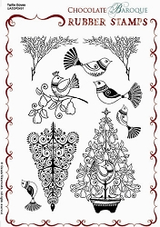 Chocolate Baroque - Turtle Doves Unmounted Stamp Sheet (5.5