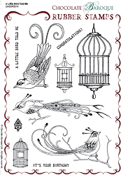 Chocolate Baroque - A Little Bird Told Me Unmounted Stamp Sheet (5.5