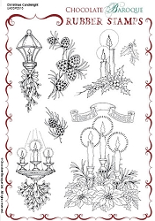 Chocolate Baroque - Christmas Candlelight Unmounted Stamp Sheet (5.5