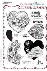 Chocolate Baroque - A Heart Full of Love Unmounted Stamp Sheet (5.5