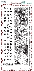 Chocolate Baroque - Edgy Edges  Unmounted Stamp Sheet (3.75