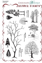 Chocolate Baroque - Trees a Crowd Unmounted Stamp Sheet (5.5