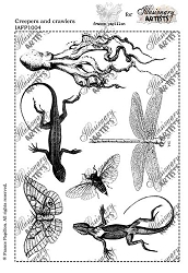 Chocolate Baroque - Creepers and Crawlers Unmounted Stamp Sheet (5.5