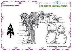 Chocolate Baroque - Cling Mounted Rubber Stamp - Walled Garden