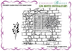 Chocolate Baroque - Cling Mounted Rubber Stamp - Another Brick in the Walled Garden