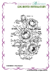 Chocolate Baroque - Cling Mounted Rubber Stamp - Flora Musica