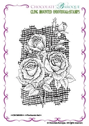 Chocolate Baroque - Cling Mounted Rubber Stamp - Florinbunda Net