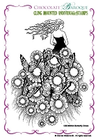 Chocolate Baroque - Cling Mounted Rubber Stamp - Butterfly Dress