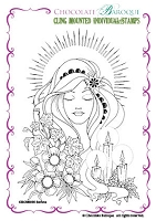 Chocolate Baroque - Cling Mounted Rubber Stamp - Serena