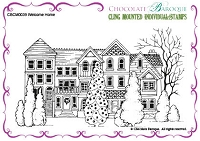 Chocolate Baroque - Cling Mounted Rubber Stamp - Welcome Home
