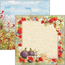 Ciao Bella - Under the Tuscan Sun Collection - Sweet Countryside 12x12 Cardstock