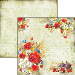 Ciao Bella - Under the Tuscan Sun Collection - Wildflower 12x12 Cardstock
