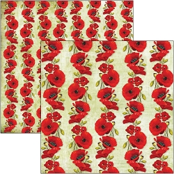 Ciao Bella - Under the Tuscan Sun Collection - Poppies 12x12 Cardstock