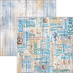 Ciao Bella - The Sound of Summer Collection - The Voice Of The Sea 12x12 Cardstock