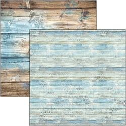 Ciao Bella - The Sound of Summer Collection - Coastal Wood 12x12 Cardstock