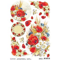 Ciao Bella - Under the Tuscan Sun Collection - Wildflower Piuma Rice Paper