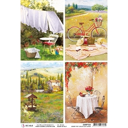 Ciao Bella - Under the Tuscan Sun Collection - Tuscan Cards Piuma Rice Paper