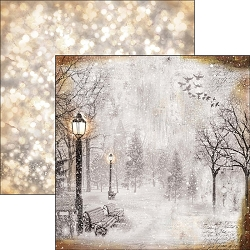 Ciao Bella - Snow and the City Collection - 12x12 Cardstock - The first fall of snow
