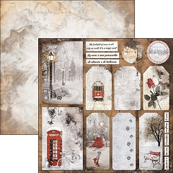 Ciao Bella - Snow and the City Collection - 12x12 Cardstock - Have a happy snowy day