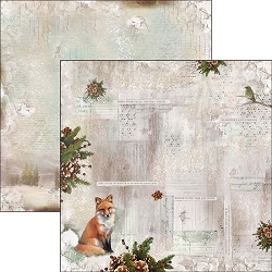 Ciao Bella - The Sound of Winter Collection - 12x12 Cardstock - When Snow Falls Nature Listens