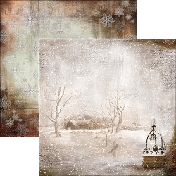 Ciao Bella - The Sound of Winter Collection - 12x12 Cardstock - Winter is time for home