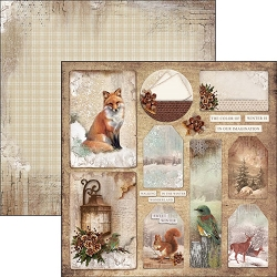Ciao Bella - The Sound of Winter Collection - 12x12 Cardstock - Color of winter is in our imagination
