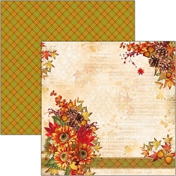 Ciao Bella - The Sound of Autumn Collection - All At Once Summer Collapsed Into Fall 12x12 Cardstock